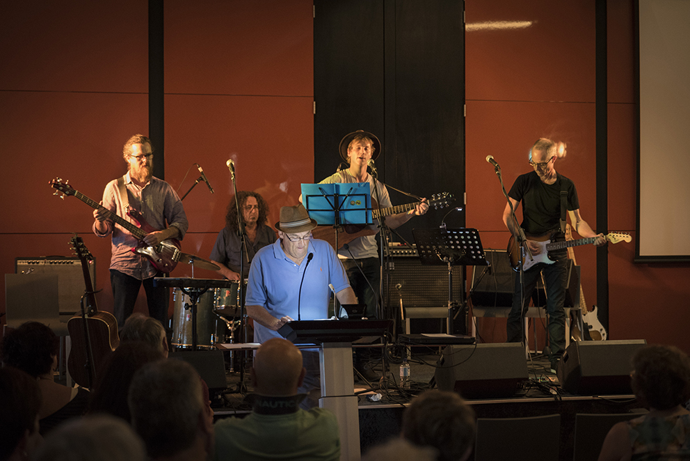 Smokie and the band. It's a happening thing! Photo by Eric Algra. Geelong Library. February 2016.