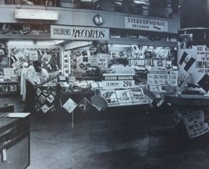 Nicholson's Record Bar, Sydney, Mid-1960s. Photo sourced from inaugural editon of Australian Music Directory, 1981-1982.