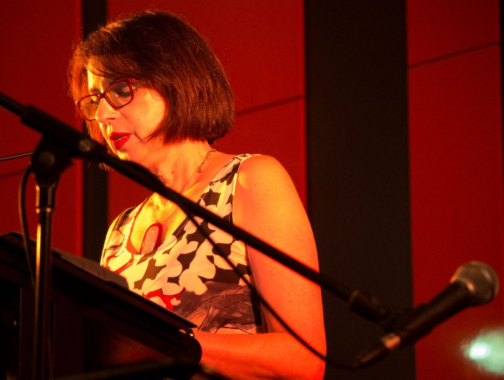 Lucia Nardo opening the show with her much-loved story about her father Salvatore. Photo by Alan Attwood.