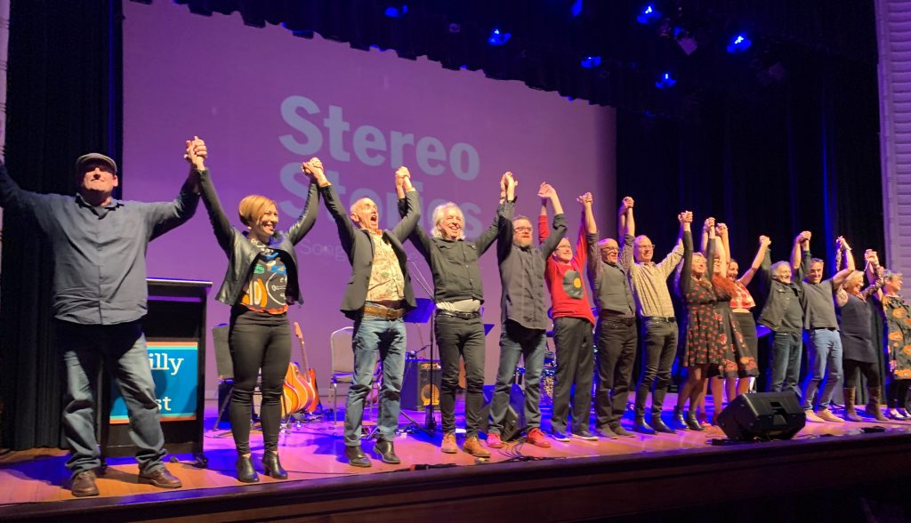 Writers and musicians bow at the end of the concert at 2019 Williamstown Literary Festival..
