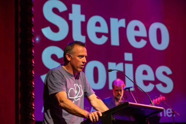 Writer Jock Serong at microphone