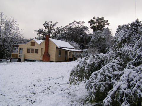 Old house in the snow